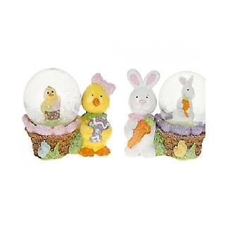 Easter Waterballs Shaker Easter Egg Hunt Decoration Easter Bunny Chick - 1 Supplied At Random