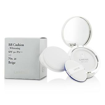 Laneige BB Cushion Foundation (Whitening) SPF 50 With Extra Refill - # No. 21 Beige 2x15g/0.5oz