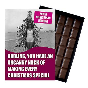 Funny Silly Christmas Gift For Best Friend Boxed Xmas Chocolate Greeting Card Present CDL144