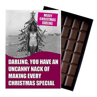 Lustige dumme Weihnachtsgeschenk für beste Freundin Boxed Xmas Schokolade Grußkarte vorhanden CDL144
