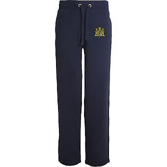 første East Anglian regiment-lisensiert britiske hæren brodert åpne hem sweatpants/jogging bunner