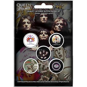 Dronning tidlige albums 5 pin badges i Pack (RZ)