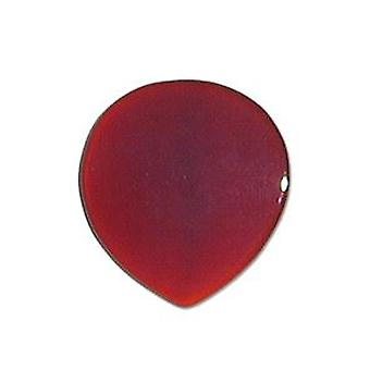 Pickboy Exotic Guitar Picks/Plectrums Natural Stone Hand Made Round - Brown Agate Small 2mm