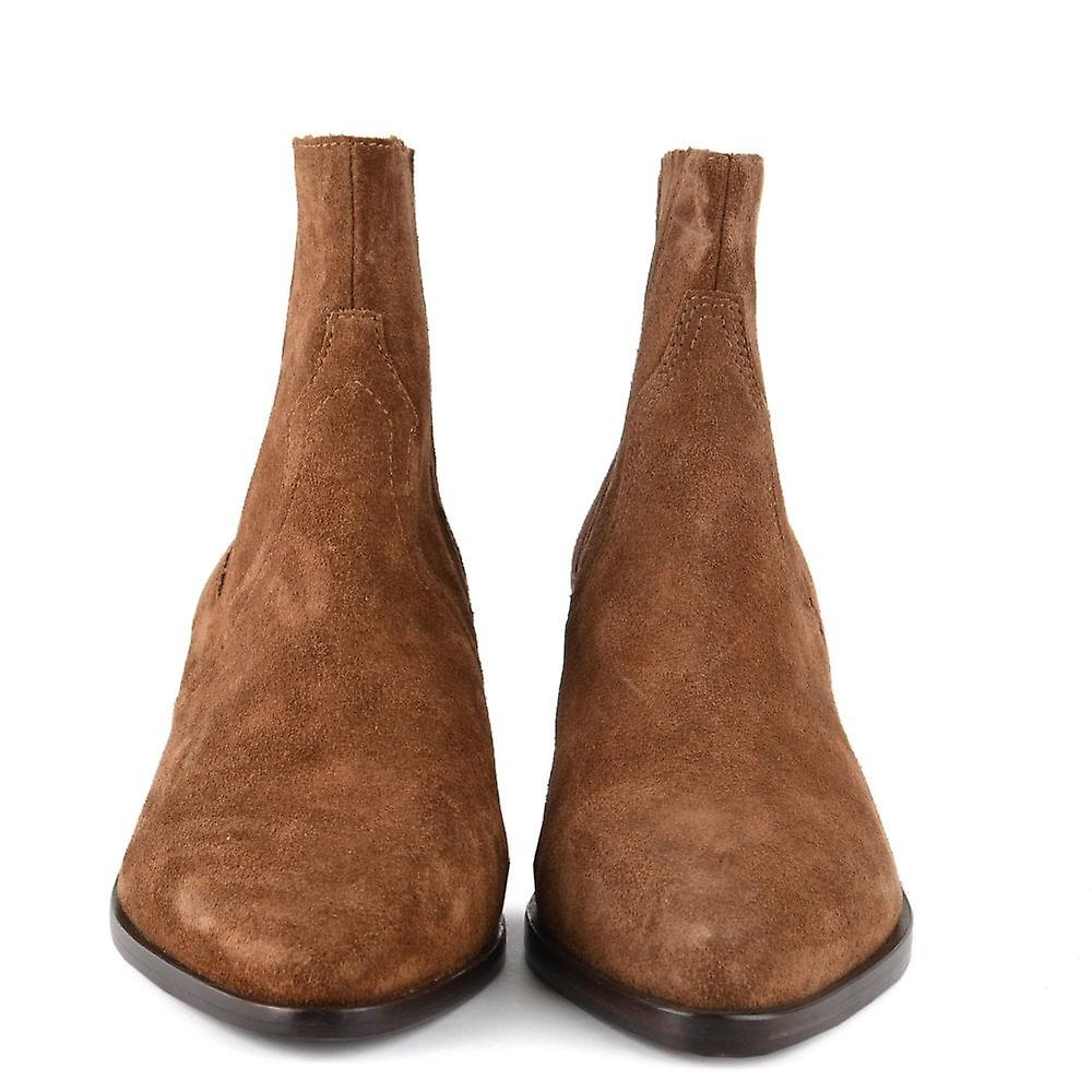 Ash Footwear Future Russet Suede Ankle Boot