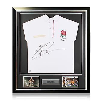 جوني ويلكنسون وقعت انكلترا لعبة الركبي قميص 2003 مؤطرة -- مع الاحترام