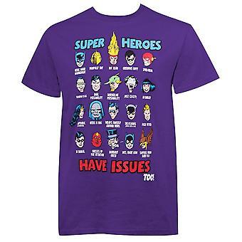 DC Comics superhjältar har frågor män ' s T-shirt