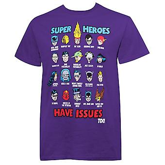 DC Comics Superhelden haben Probleme Men's T-Shirt