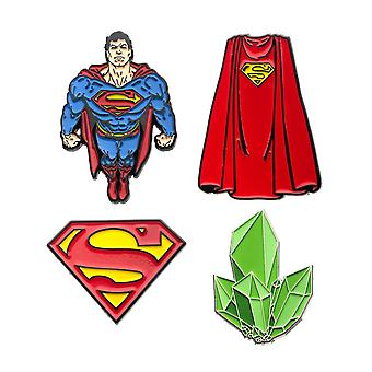 Superman emalje 4-Piece PIN sæt