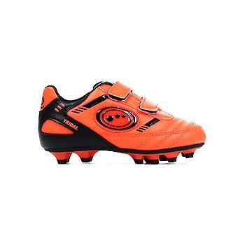 Optimum Tribal Strap Moulded Bambini Scarpe da calcio arancione/nero