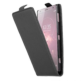 Cadorabo Hülle für Sony Xperia XZ2 Case Cover - Handyhülle im Flip Design aus strukturiertem Kunstleder - Case Cover Schutzhülle Etui Tasche Book Klapp Style