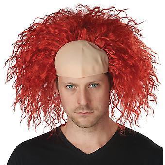 Rode clown pruik