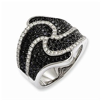 925 Sterling Silver Rhodium plated and CZ Cubic Zirconia Simulated Diamond Brilliant Embers Ring Size 6 Jewelry Gifts fo