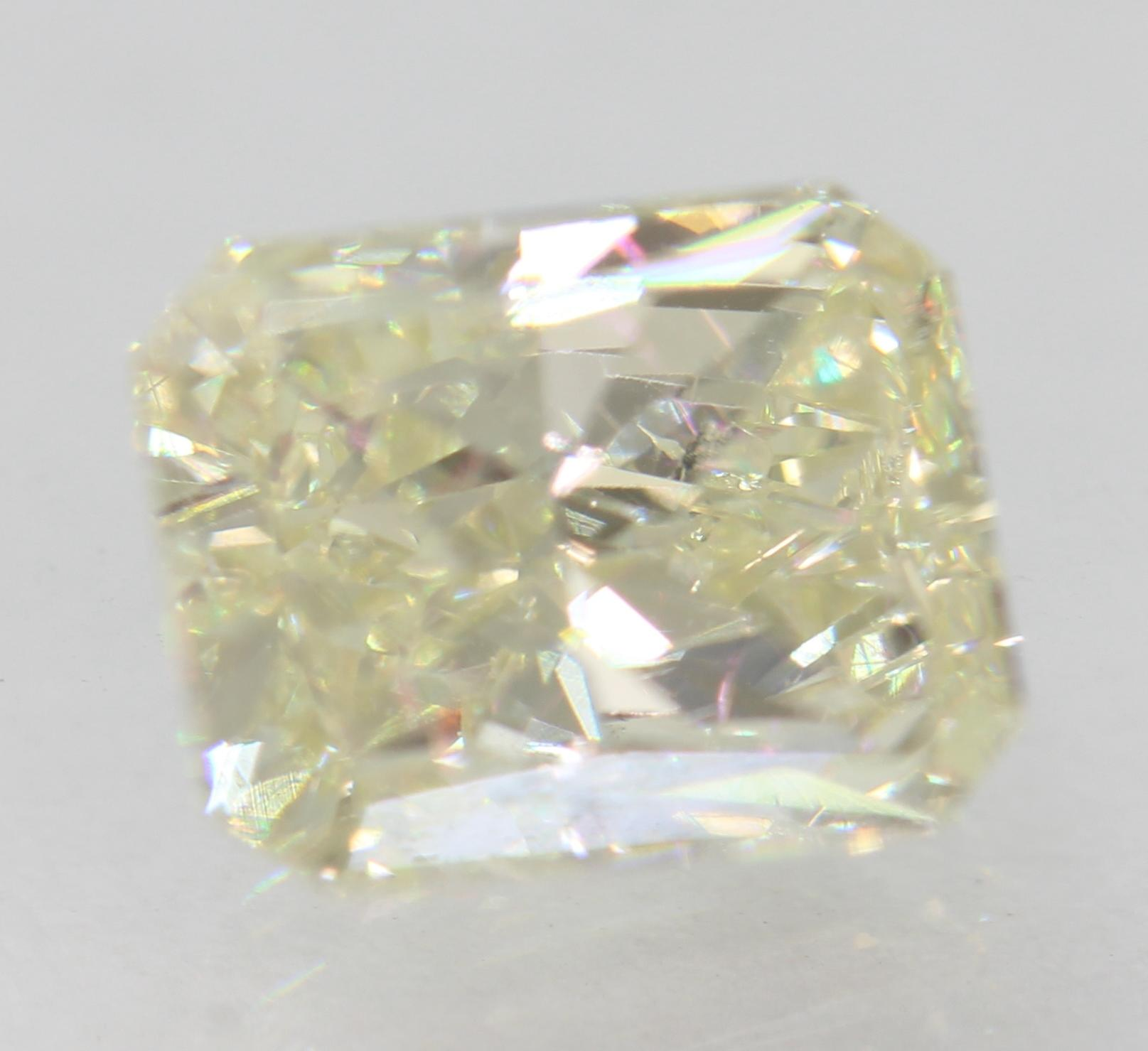Certified 1.70 Carat J VS1 Radiant Enhanced Natural Loose Diamond 7.59x6.03m 2VG