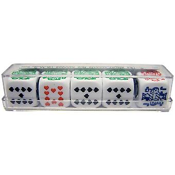 Poker Dice in Plastic Box