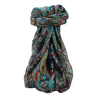 Moerbei zijde traditionele vierkante sjaal Yana zwart door Pashmina & Silk