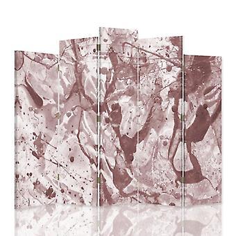 Dekorative Raumteiler, 5 Paneele, doppelseitig, 360 ° Drehbare Leinwand, verschüttete Farbe