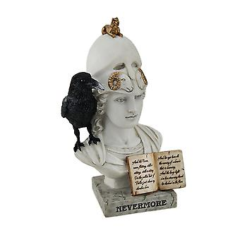 The Raven Nevermore On Pallas Athena Bust Statue