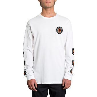 Volcom Familie Stein Langarm T-Shirt in weiß