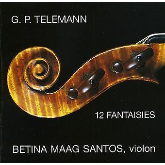 G.P. Telemann - Telemann: Fantasias for Solo Violin [CD] USA import