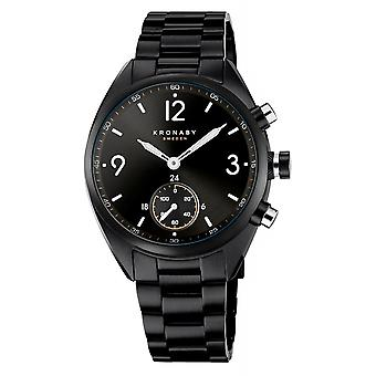 Kronaby S3115-1 Men's Apex Smartwatch Black Steel