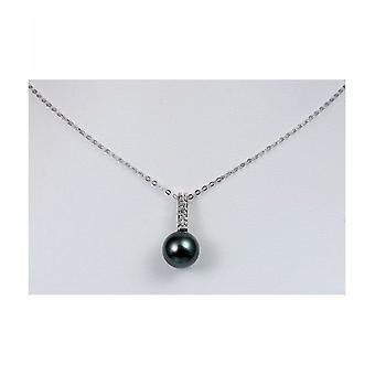 Luna-Pearls Tahiti Bead pendant with diamonds AH11