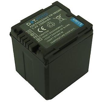 Batterij van de vervanging Panasonic VW-VBG260 Dot.Foto - 7.4V / 2500mAh
