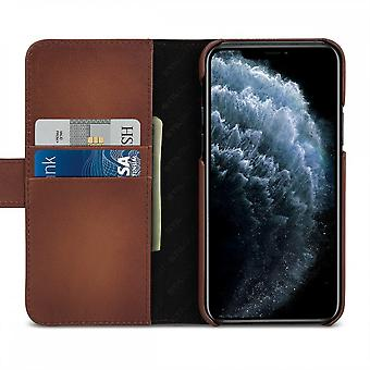 Case For IPhone 11 Pro Brown Card Holder In True Leather