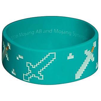 Minecraft, silikon armbånd - blå
