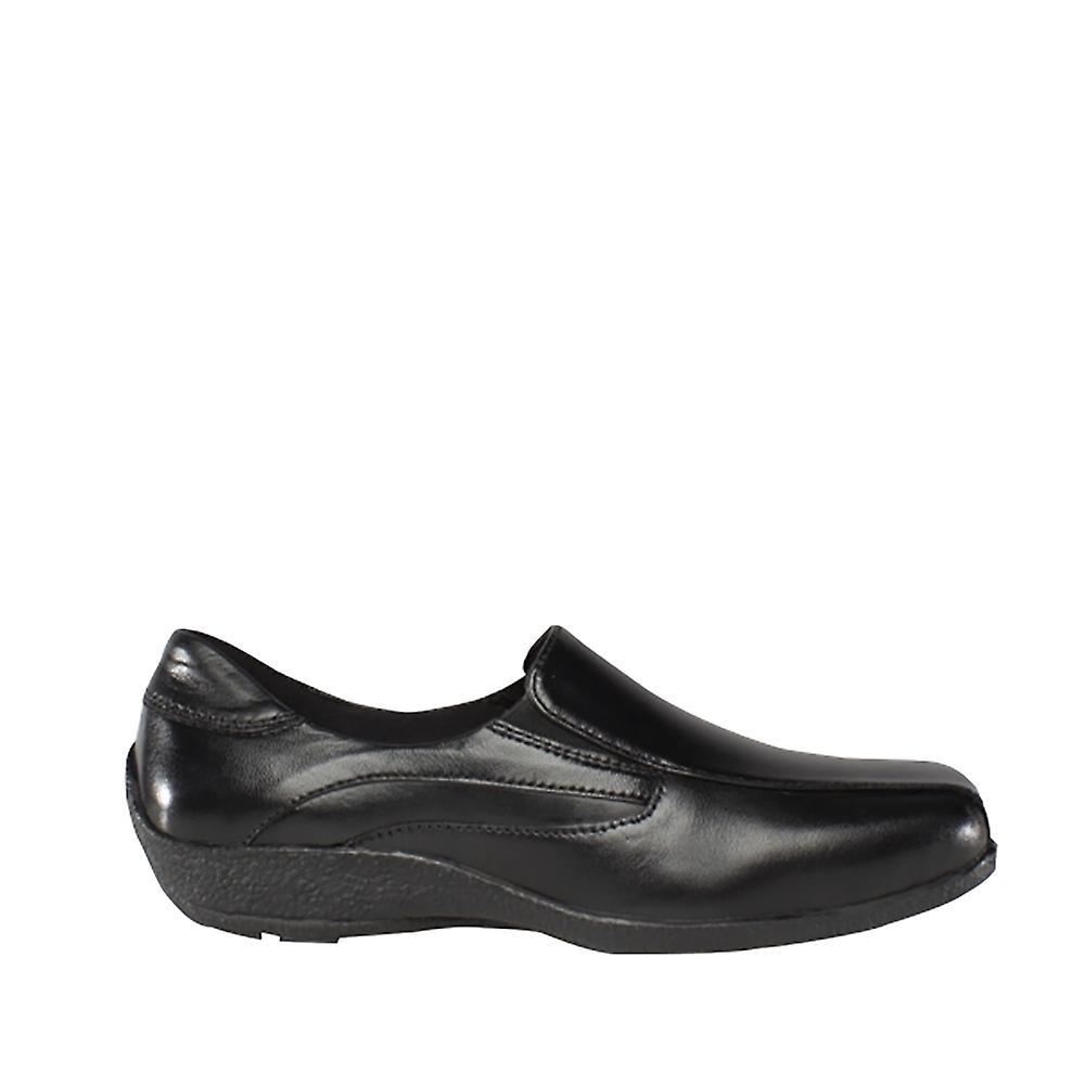 Mod Comfys Womens/dames en cuir souple Twin supérieure gousset chaussures - Remise particulière