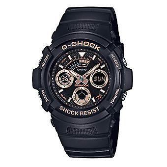 CASIO klocka chronograph quartz män med svart resin rem AW-591GBX-1A4ER