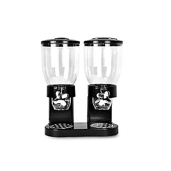 Double Cereal Dispenser Black