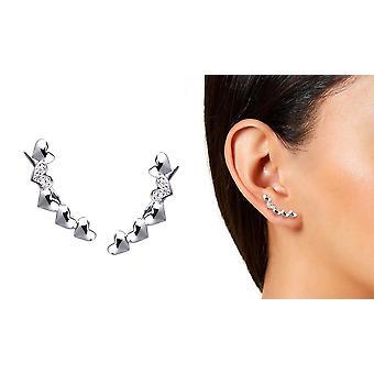 Heart Climber Earrings
