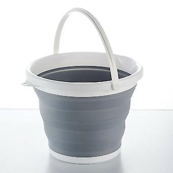 Collapsible Folding Plastic Bucket Kitchen Silicon Water Carrier Camping Garden