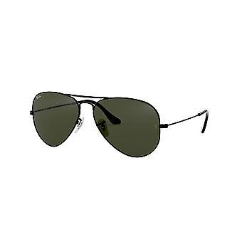Ray-Ban Aviator RB3025 L2823 sort krystal grøn solbriller