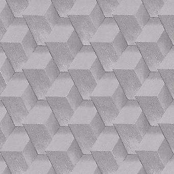 Grey Geometric Wallpaper Erismann Glitter Paste The Wall Vinyl Modern