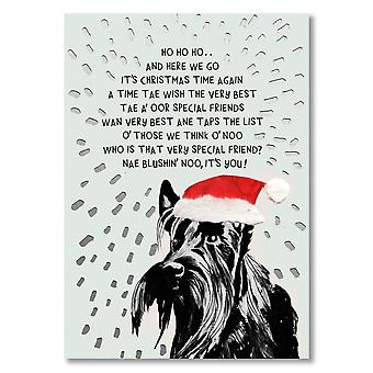 Broderade Originals Special Friend Scottie Dog julkort