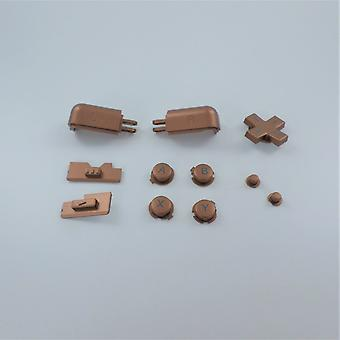 Button set for ds lite nintendo a b x y d-pad l r trigger, volume & power slider replacement - copper | zedlabz