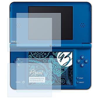 Bruni 2x näytönsuoja yhteensopiva Nintendo DSi XL suojaava kalvo