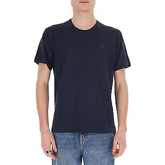 Acne Studios 25e173bg3 Men's Blue Cotton T-shirt