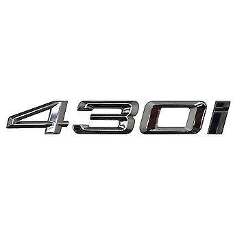 Hopea kromi BMW 430i auton merkki tunnus mallinumerot kirjaimet 4-sarjan F32 F33 F36 G22 G23 G26