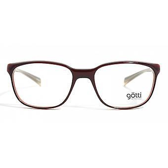 Gotti Uderzo REY Dark Red Glasses