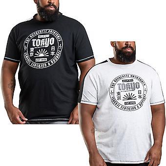 Duke D555 hombres Walton grande alto tamaño king tamaño cuello Tokyo impresión camiseta Top camiseta