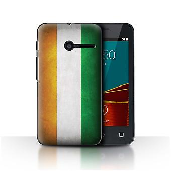 STUFF4 Caso/tampa para Vodafone Smart primeiro 6/marfim costa/bandeiras