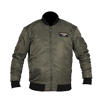 West Coast Choppers Men's Bomber Jacket MA-1 Eagle Green