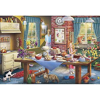 Gibsons 500 Piece Sneaking A Slice Jigsaw Puzzle