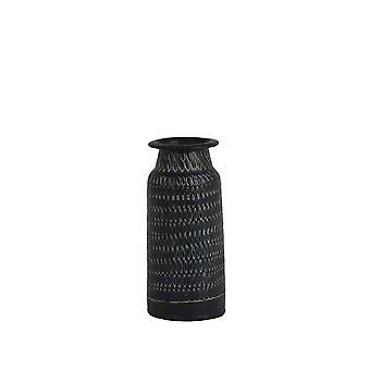Light & Living Vase 9x20cm Oravia Black-Antique Green