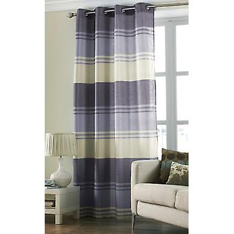 Country Club Stripe Ring Top Curtain Panel, Purple