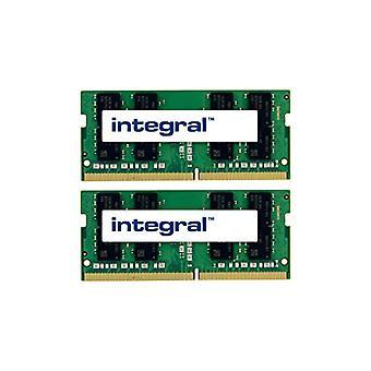 Integral, 8GB (2 x 4GB) DDR4 2400 MHz SODIMM CL15 laptop memory kit