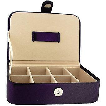 Mele Ladies-Girls Purple Metallic Jewellery Box Ideal For Traveling