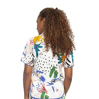 Cyberjammies 4438 Women's Alicia White Abstract Print Cotton Pyjama Top